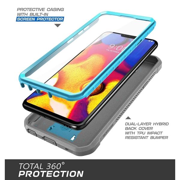 SUPCASE LG V40 ThinQ Unicorn Beetle Pro Serisi Kılıf-Blue