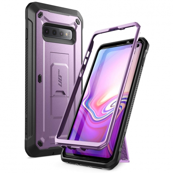 SUPCASE Galaxy S10 Plus Unicorn Beetle Pro Serisi Kılıf-Purple