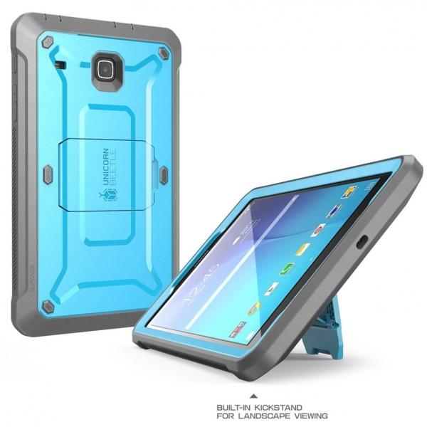 SUPCASE Samsung Galaxy Tab E Unicorn Beetle PRO Seri Kılıf (8.0 inç)-Blue