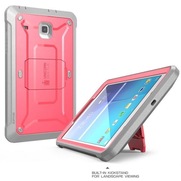 SUPCASE Samsung Galaxy Tab E Unicorn Beetle PRO Seri Kılıf (8.0 inç)-Pink