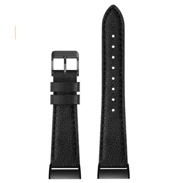 SWEES Fitbit Charge 3 Deri Kayış (Small)-Black