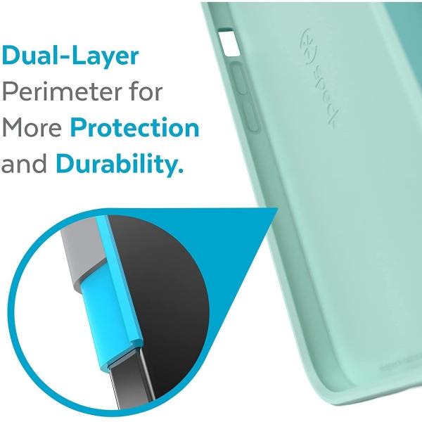 Speck iPhone 13 Pro Max CandyShell Pro Serisi Kılıf (MIL-STD-810G)-Pool Teal/Tart Teal