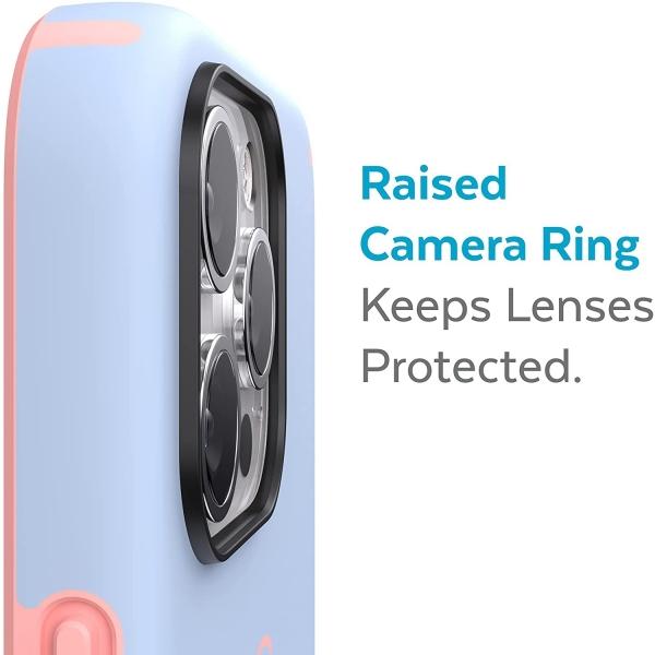 Speck iPhone 13 Pro Max CandyShell Pro Serisi Kılıf (MIL-STD-810G)-Harmony Blue/Chiffon Pink