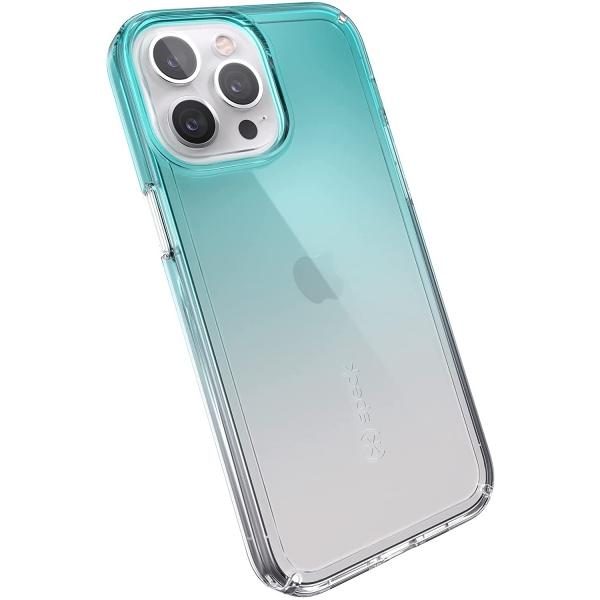 Speck iPhone 13 Pro Max GemShell Serisi Kılıf (MIL-STD-810G)-Totally Teal Fade/Clear