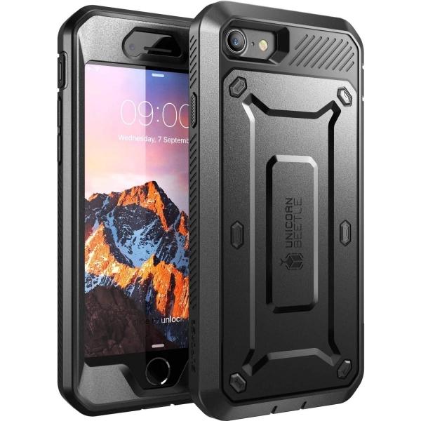 Supcase iPhone SE Unicorn Unicorn Beetle Pro Serisi Kılıf (2.Nesil)-Black