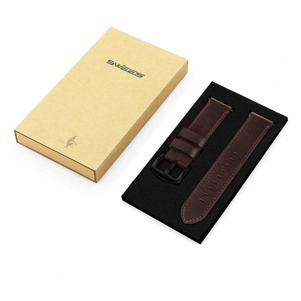 Swees Samsung Gear S3 Deri Kayış-Coffee