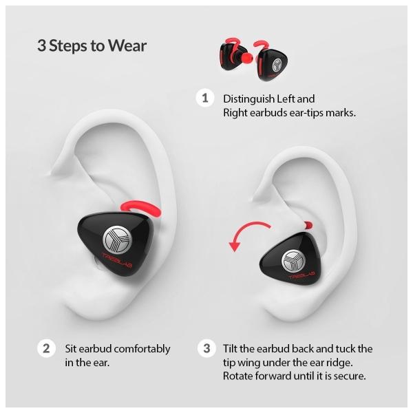 TREBLAB X11 Kablosuz Bluetooth Kancalı Kulaklık-Black