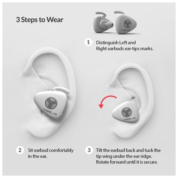 TREBLAB X11 Kablosuz Bluetooth Kancalı Kulaklık-White