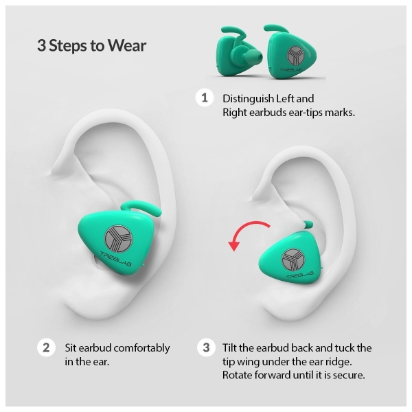 TREBLAB X11 Kablosuz Bluetooth Kancalı Kulaklık-Tiffany Blue