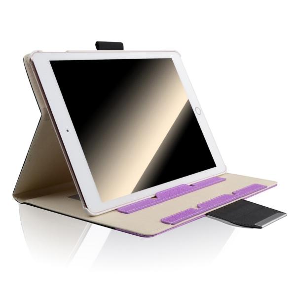 Thankscase Apple iPad Pro Stand Kapak Kılıf (10.5 inç)-Black Purple Plus