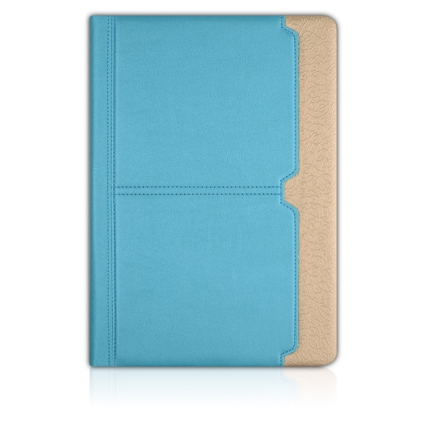 Thankscase Apple iPad Pro Stand Kapak Kılıf (10.5 inç)-Blue Gold Plus