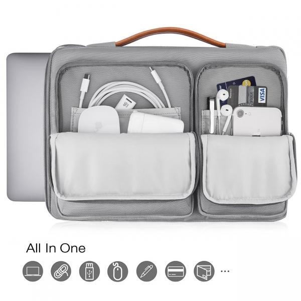 Tomtoc Laptop Çantası (15/15.6 inç)-Light Gray