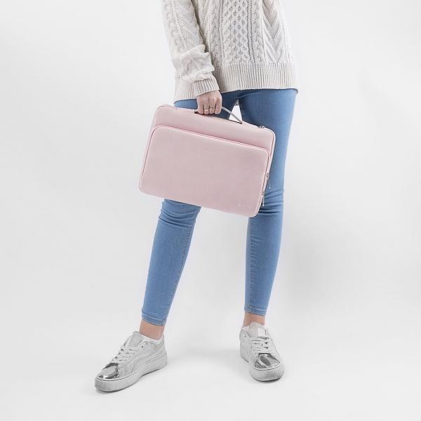 Tomtoc Laptop El Çantası (13 / 13.3 inç)-Pink