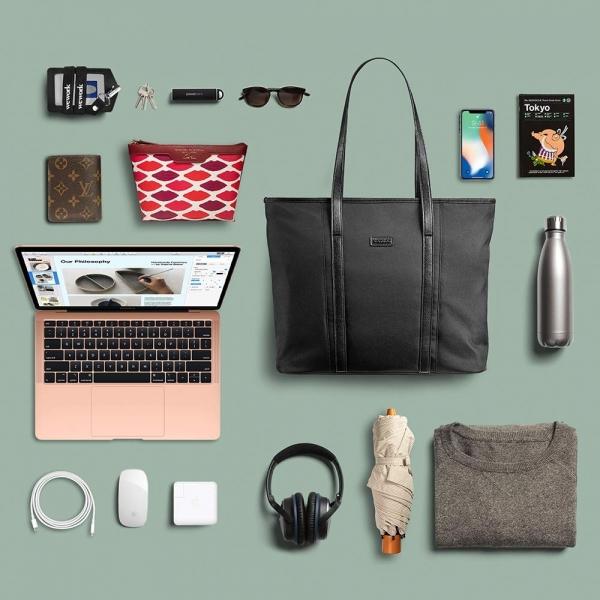 Tomtoc Laptop Omuz Çantası (15 inç)-Black