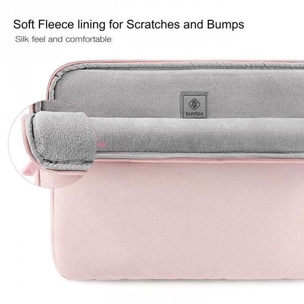 Tomtoc Macbook/Laptop El Çantası (13/13.3 inç)-Baby Pink