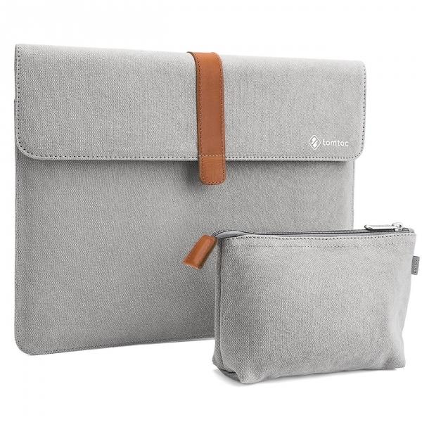 Tomtoc New Apple MacBook Pro Aksesuar Çantalı Taşıma Çantası (15 inç)-Gray