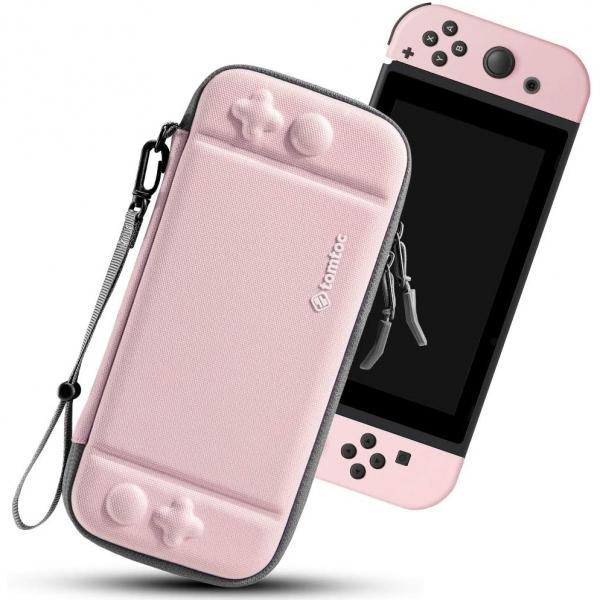 Tomtoc Nintendo Switch Taşıma Çantası-Pink