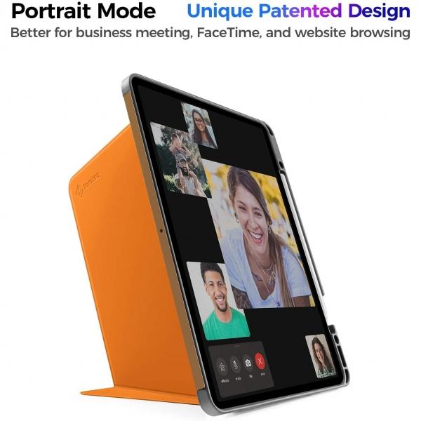 Tomtoc iPad Pro Kalem Bölmeli Kılıf (12.9 inç)-Orange