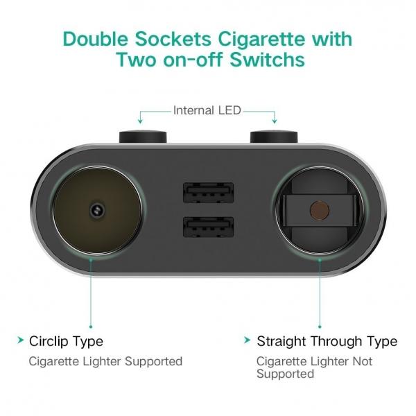 UGREEN Çift USB Araç Şarj Cihazı