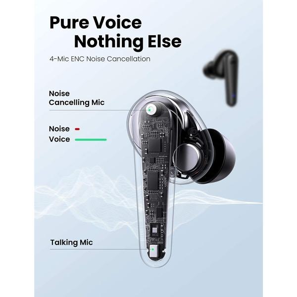 UGREEN HiTune T1 Kablosuz Kulak İçi Kulaklık-Black