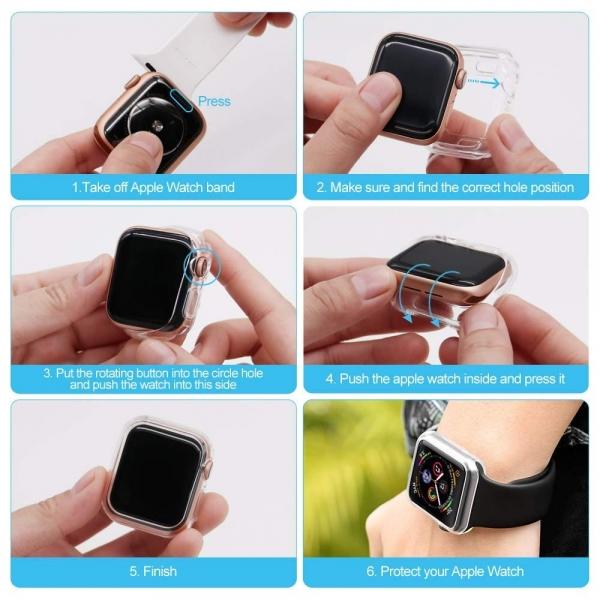 UMTELE Apple Watch 4 Koruyucu Kılıf (40mm)(2Adet)