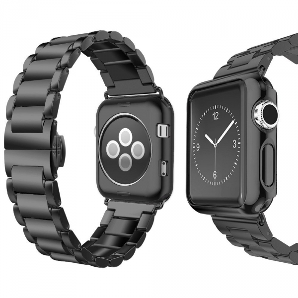 UMTELE Apple Watch Paslanmaz Çelik Kayış (38mm)-Black