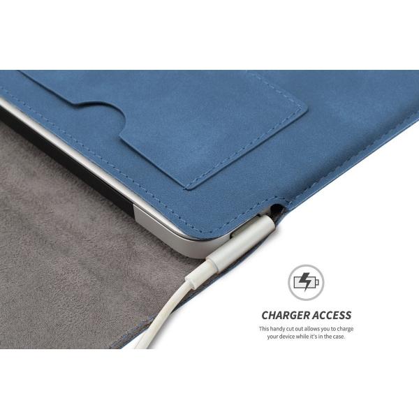 Valkit MacBook Pro Deri Kılıf (15 inç)-Blue