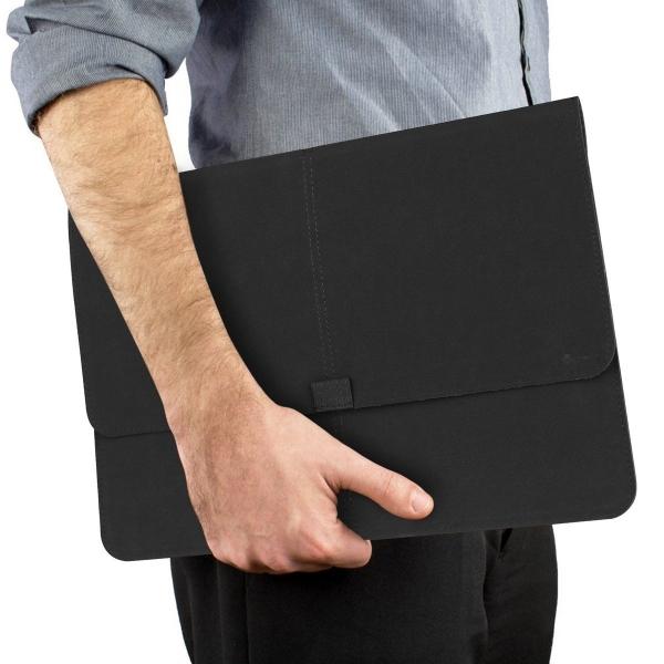 Valkit Microsoft Surface Pro 3/4 Deri Kılıf-Black