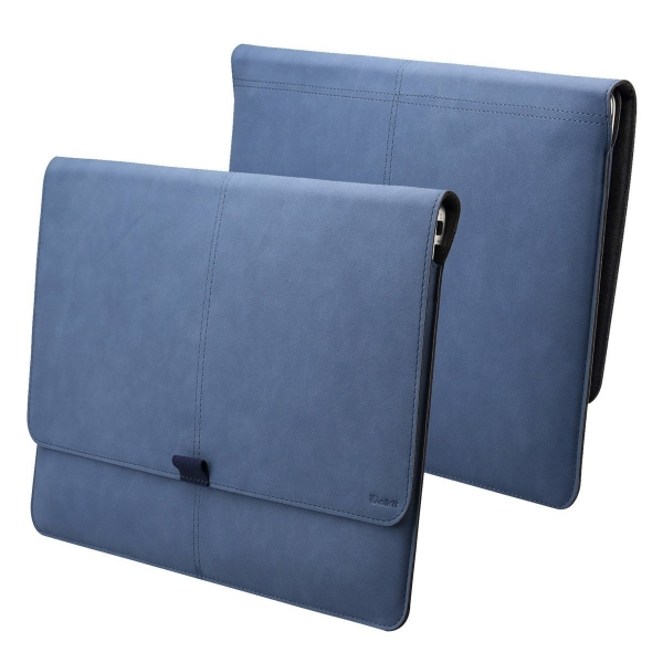 Valkit Microsoft Surface Pro 3/4 Deri Kılıf-Blue