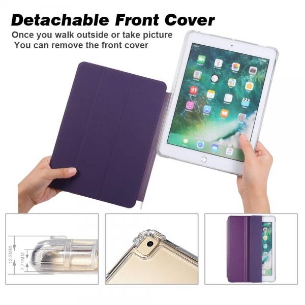 Valkit iPad Standlı Kılıf (10.2 inç)(7.Nesil)-Dark Purple