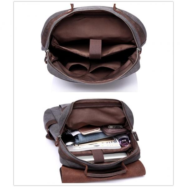 Vasch Laptop Deri Sırt Çantası (15.6 inç)-Gray
