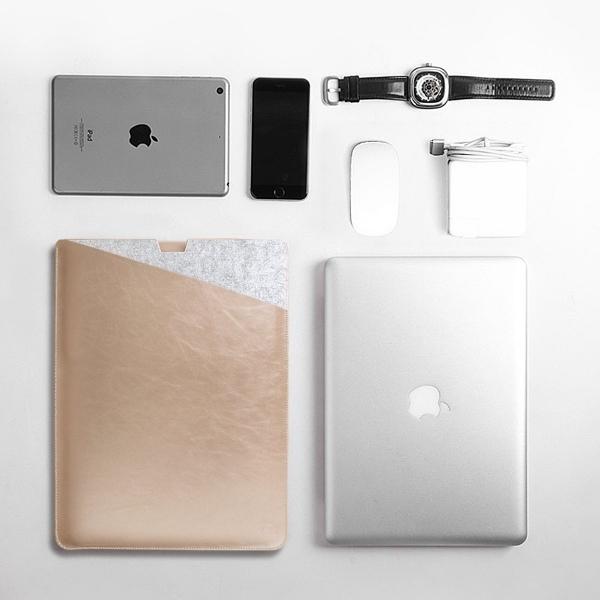 WALNEW Macbook Air Sleeve Çanta (13 inç)-Gold