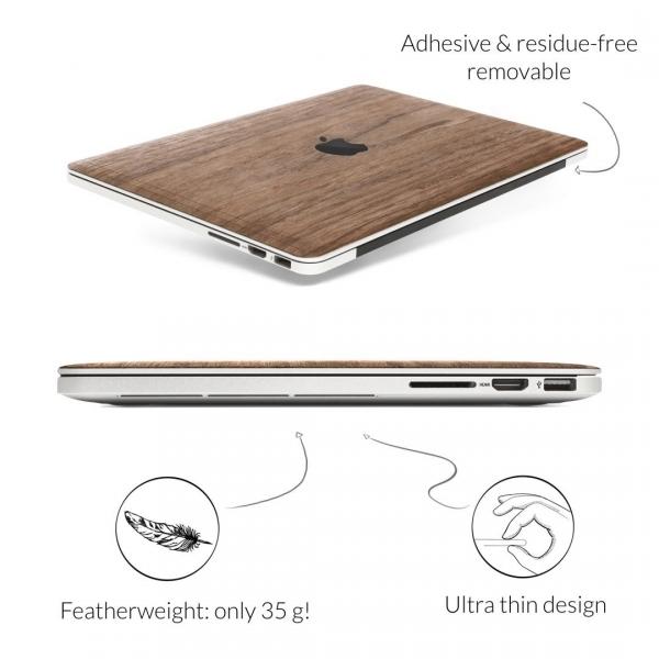 Woodcessories MacBook Pro EcoSkin Sticker (13 inç/Touchbar)-Walnut