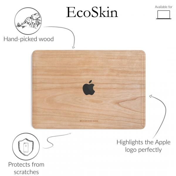 Woodcessories MacBook Pro EcoSkin Sticker (13 inç/Touchbar)-Cherry