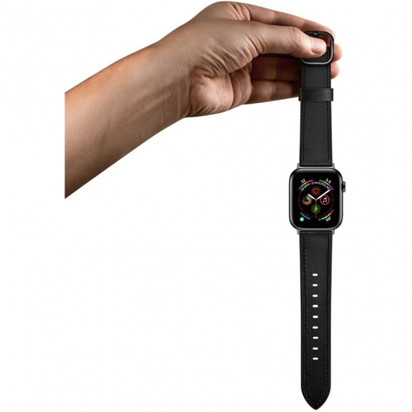 amBand Apple Watch Deri Kayış (38/40mm)-Black