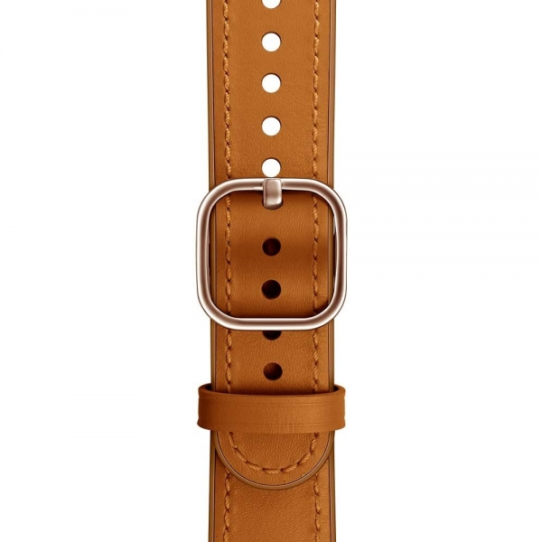 amBand Apple Watch Deri Kayış (38/40mm)-Light Brown