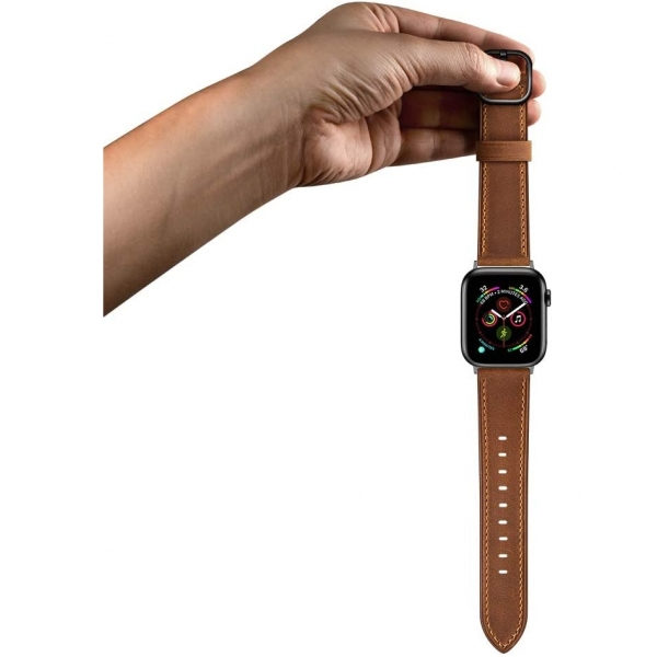 amBand Apple Watch Deri Kayış (38/40mm)-Retro Brown