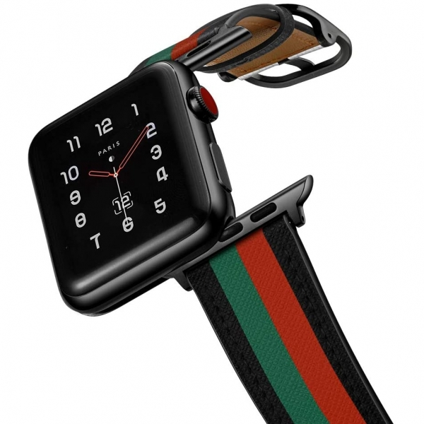 amBand Apple Watch Deri Kayış (38/40mm)-Colorful Stripe