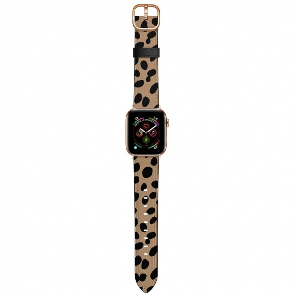 amBand Apple Watch Deri Kayış (38/40mm)-Cheetah Dots