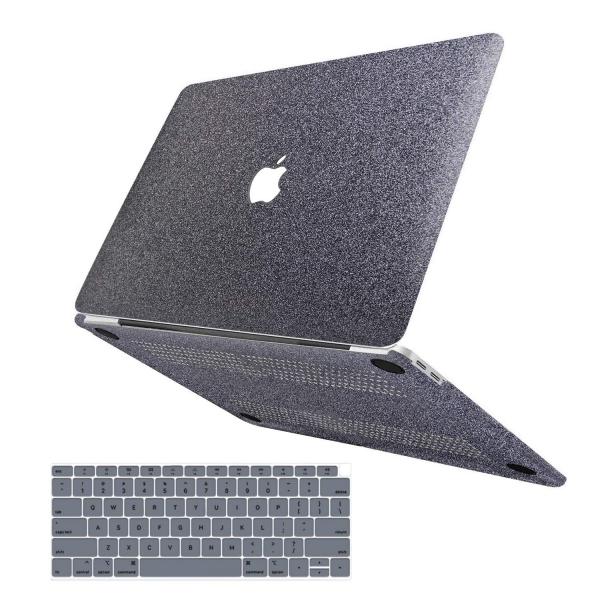 anban MacBook Air Simli Koruyucu Kılıf (Retina 13.3 inç)-Gray