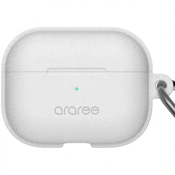 araree AirPods Pro Pops Deri Kılıf-White