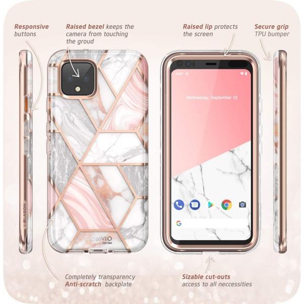 i-Blason Google Pixel 4 Cosmo Serisi Kılıf-Marble