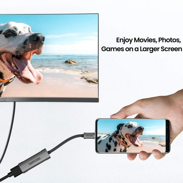 tomtoc USB C to HDMI 2.0 Adaptör