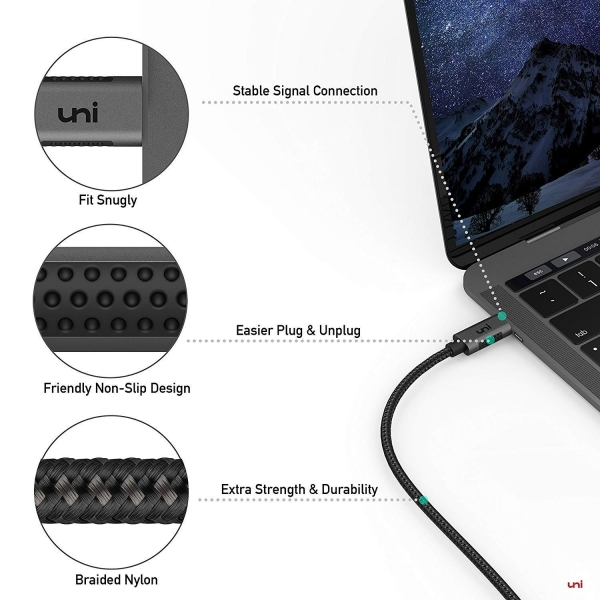 uni USB C to DisplayPort Kablosu (1.8M)