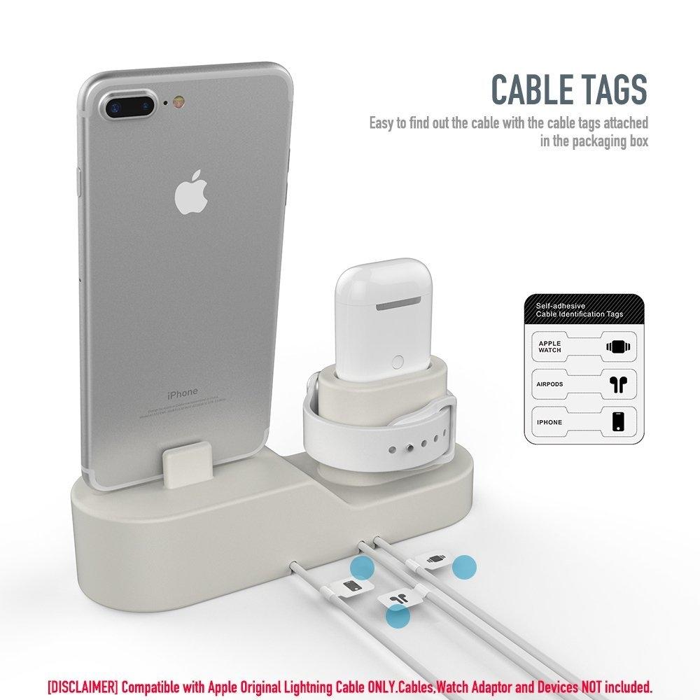 AhaStyle Apple Airpods/Watch/iPhone Silikon Şarj Standı