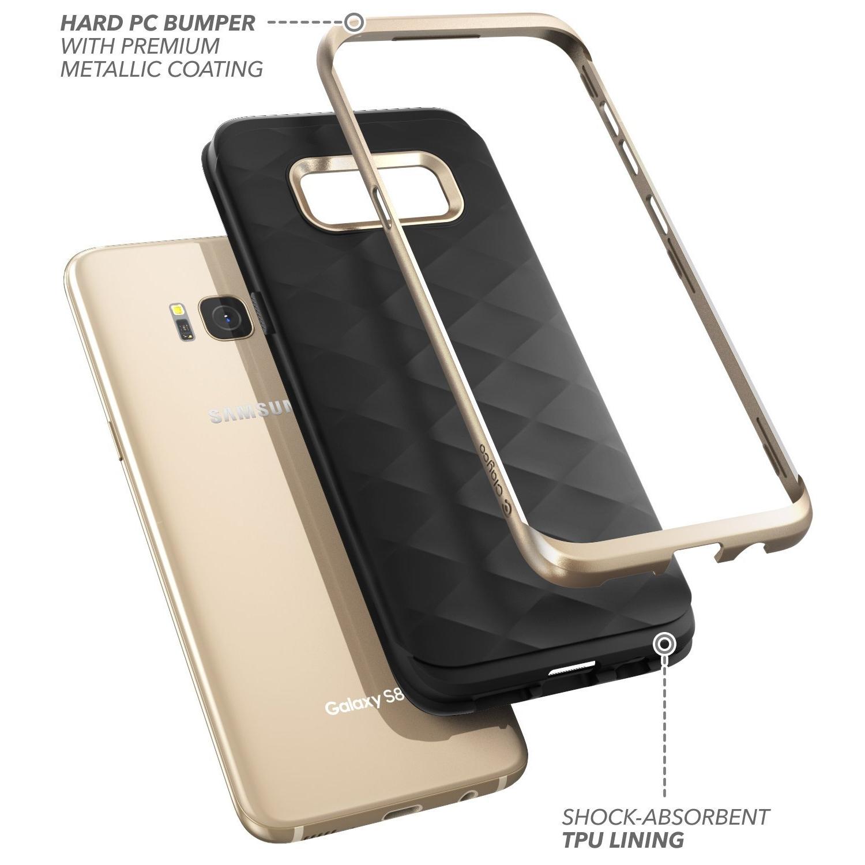 Clayco Galaxy S8 Plus Helios Serisi Premium Hybrid Kılıf