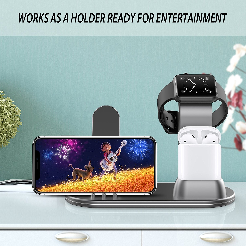 OLEBR Apple Watch/AirPods/iPhone Şarj Standı
