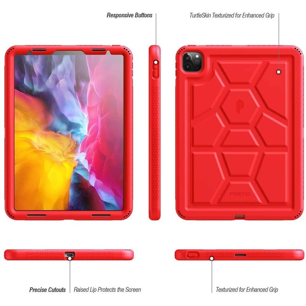 Poetic Apple iPad Pro TurtleSkin Serisi Kılıf (11 inç)(2020)-Red