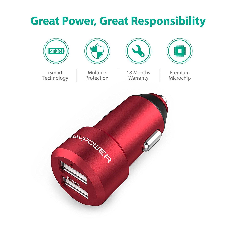 RAVPower Araç Şarjı-Red