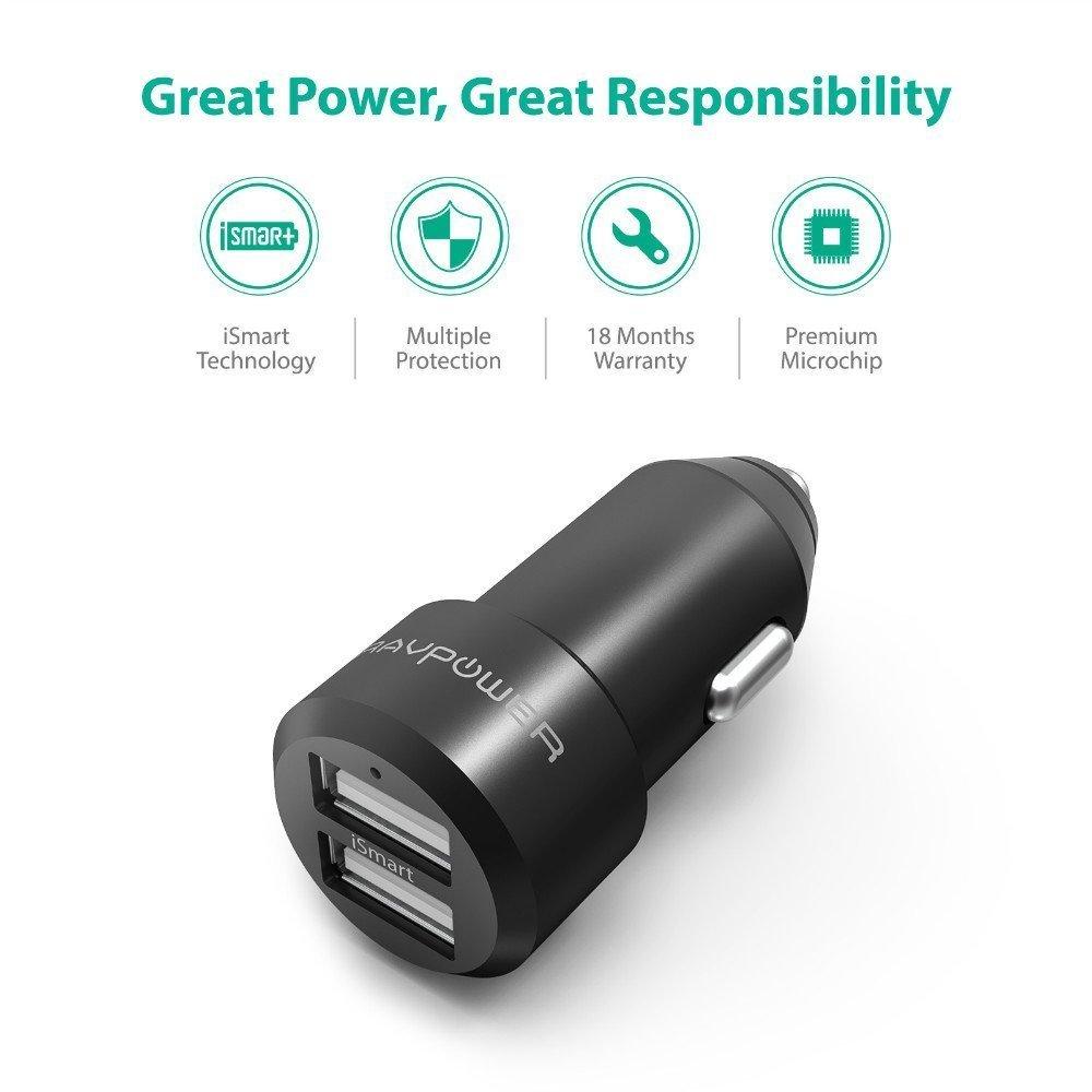 RAVPower Araç Şarjı-Black